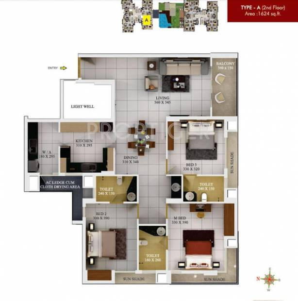 SFS Silicon Hills and Medows (3BHK+3T (1,624 sq ft) 1624 sq ft)