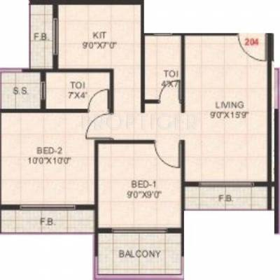 640 Sq Ft 1 Bhk 1t Apartment For Sale In Om Group Jalaram