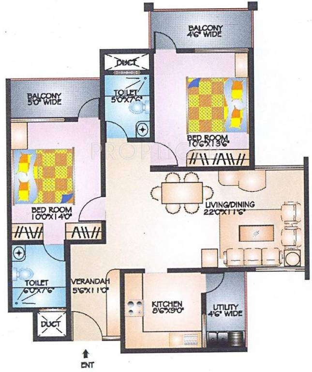 1000 sq ft 2 bhk 2t apartment for sale in ittina abby for 1000 sq ft 2bhk house plans