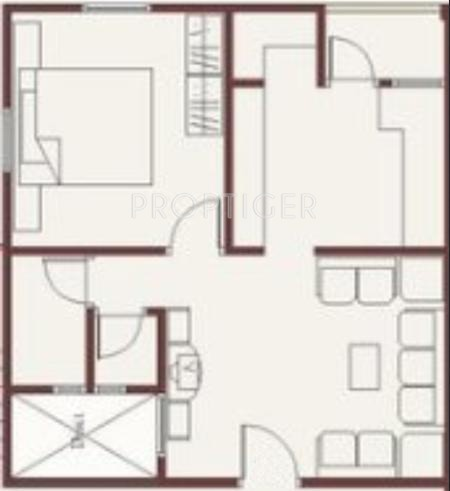 675 sq ft 1 bhk 1t apartment for sale in narayan krupa for 675 sq ft floor plan