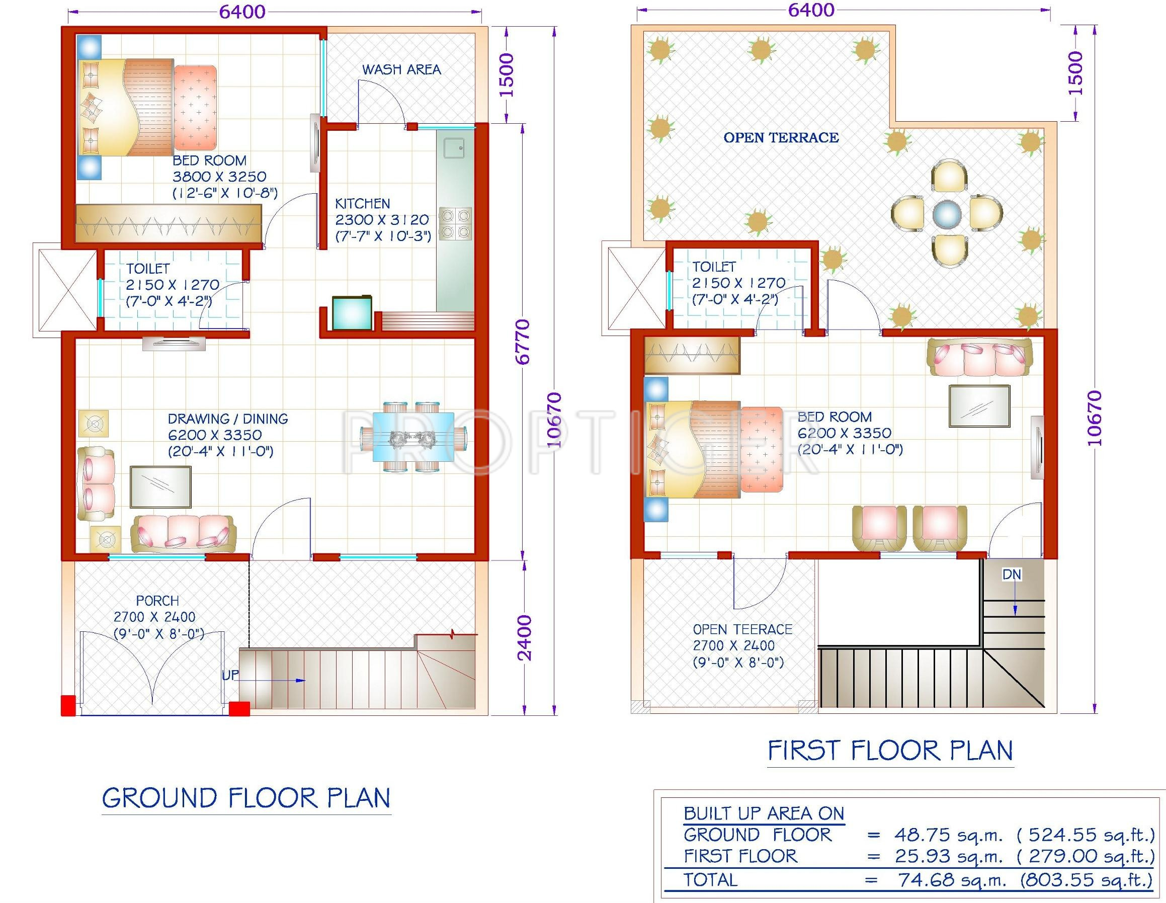 600 sq ft house plans indian style with car parking for House plans indian style in 1200 sq ft