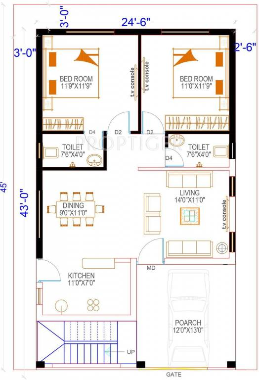 1050 sq ft 2 bhk 2t villa for sale in pride india american for 1050 sq ft floor plans