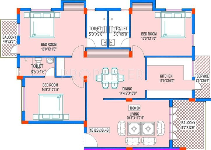Green Victory Home (3BHK+3T (1,800 sq ft) 1800 sq ft)