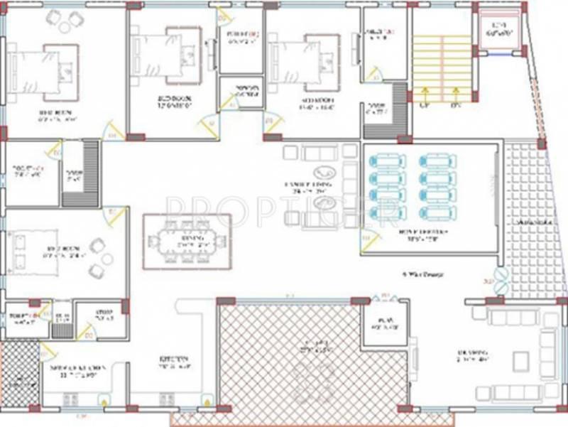 5000 sq ft 4 bhk floor plan image vamsiram jyothi for 5000 sq ft home floor plans