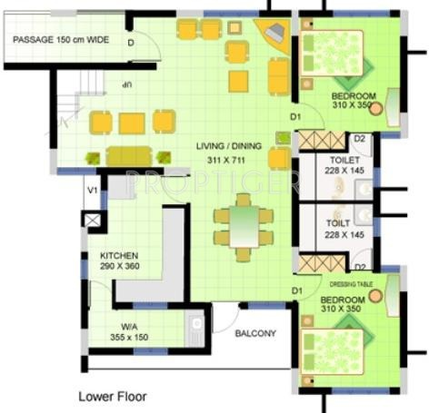 5 Bhk 5t Apartment For Sale In Heera Group Towers: 5 bhk duplex floor plan