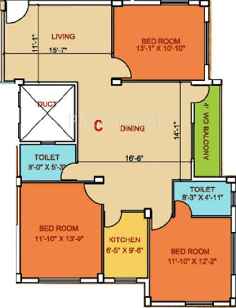 joy majumder and co monika floor plan 3bhk 2t 1450 sq ft 391317