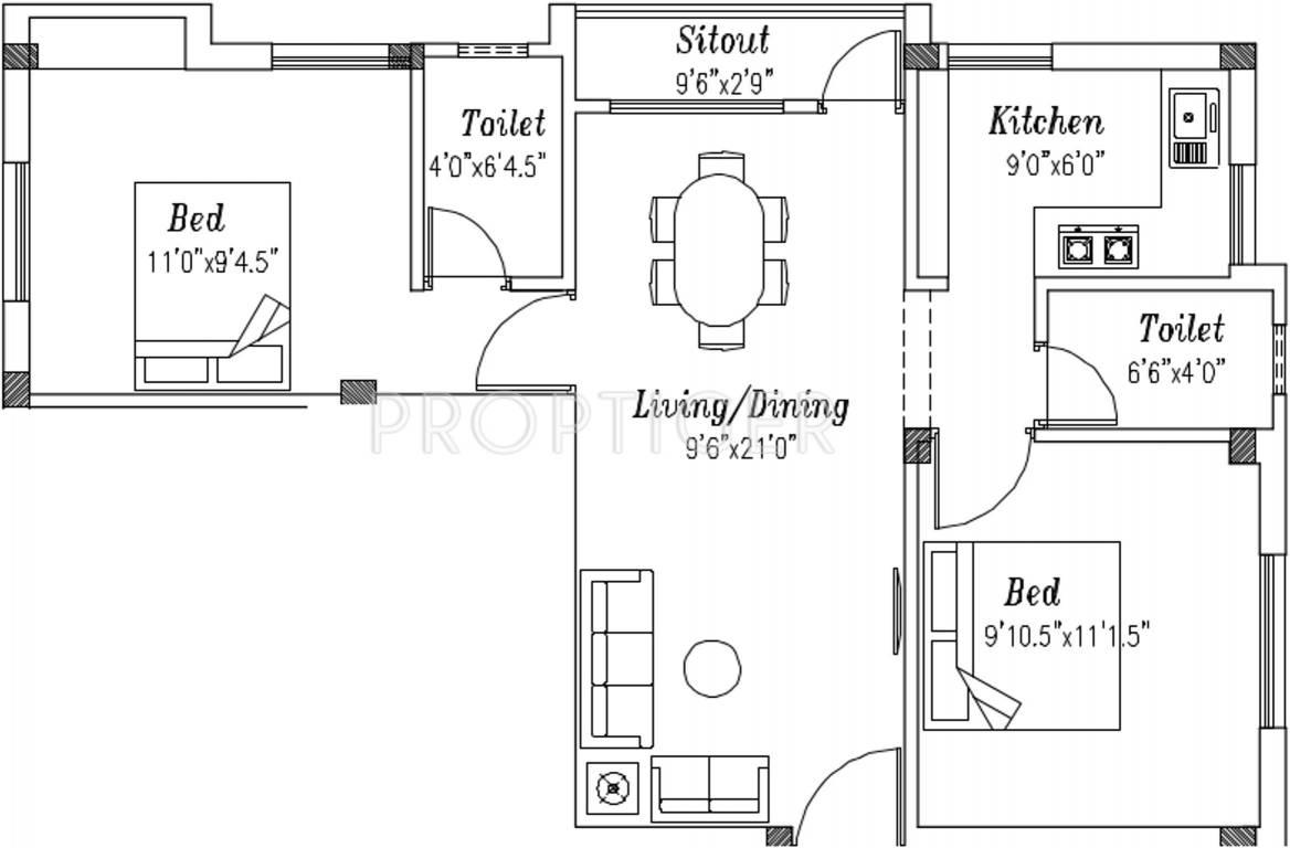 900 sq ft 2 bhk 2t apartment for sale in sri krishna for 900 sq ft apartment floor plan