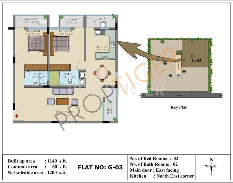 1200 sq ft 2 bhk 2t apartment for sale in insight gokula for 1200 sq ft modular home price