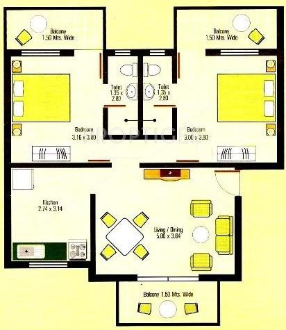 1075 Sq Ft 2 Bhk 2t Apartment For Sale In Highland Holiday