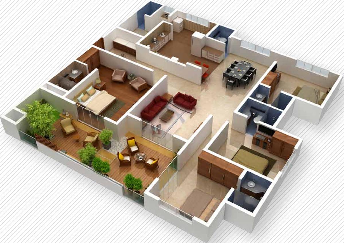 2700 Sq Ft 4 Bhk 4t Apartment For Sale In Vaishnavi