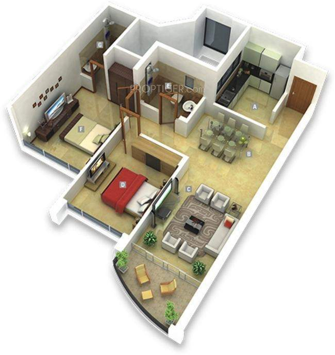 1100 sq ft 2 bhk 2t apartment for sale in kumar properties for How much is 1100 square feet
