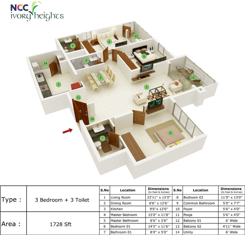 Ncc Ivory Heights In Mahadevapura Bangalore Price