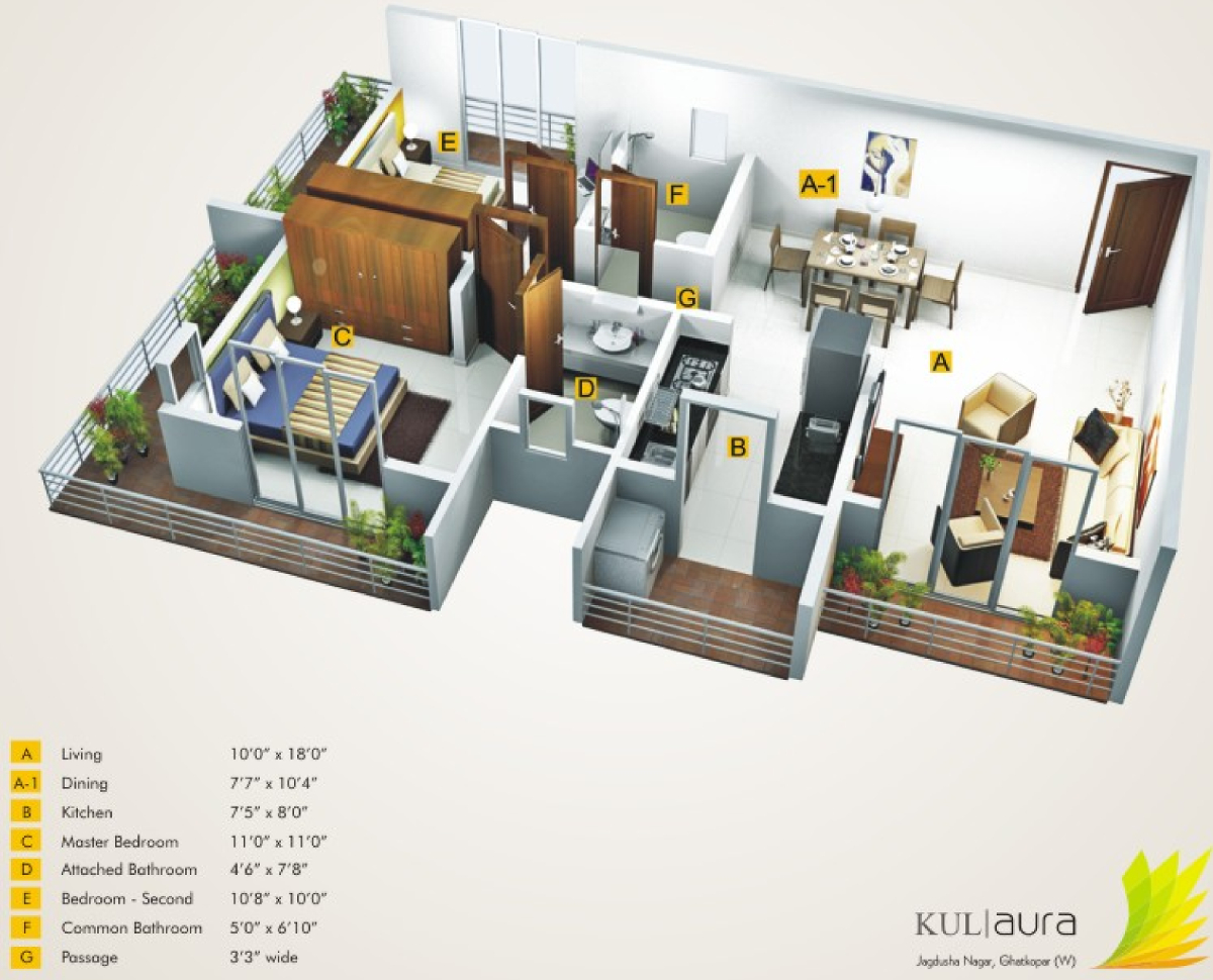 Kumar kul aura in ghatkopar west mumbai price location for Floor plan agreement