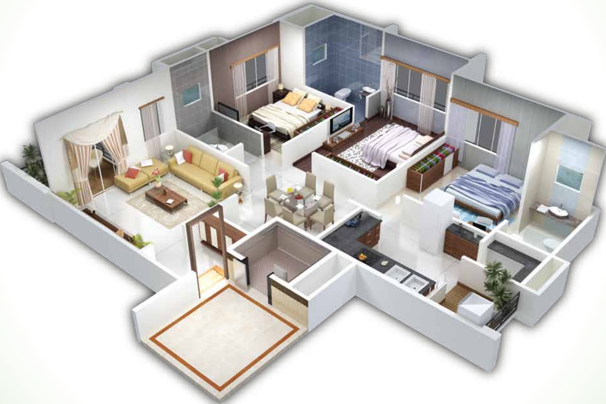 Fine 3d Homes Design Pictures Inspiration - Home Decorating Ideas ...