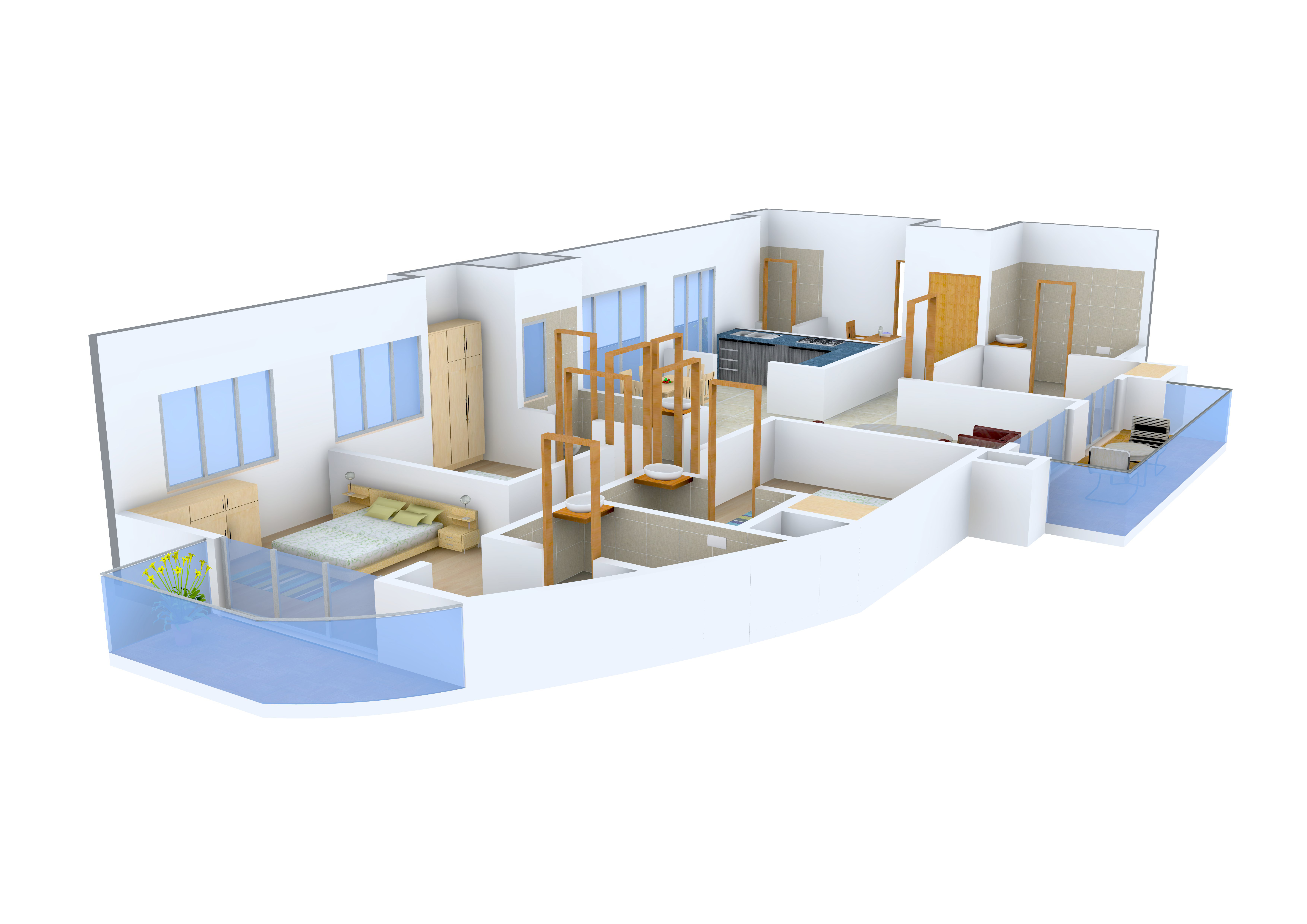 1 BHK Flats for rent in Sector-76 Noida - Rental Single ...