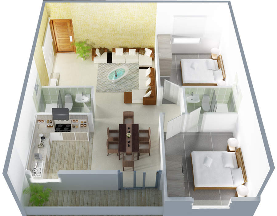 2 Bhk Home Design In India Part - 20: DS Solitaire In Horamavu Bangalore Price Location Map Floor. House Plan.