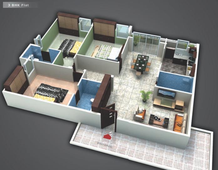 1745 Sq Ft 3 Bhk 3t Apartment For Sale In Saroj Cosmos