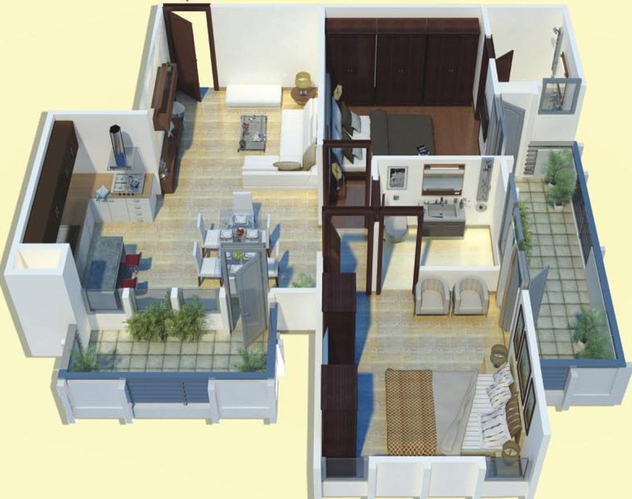 1375 sq ft 2 BHK 2T Apartment