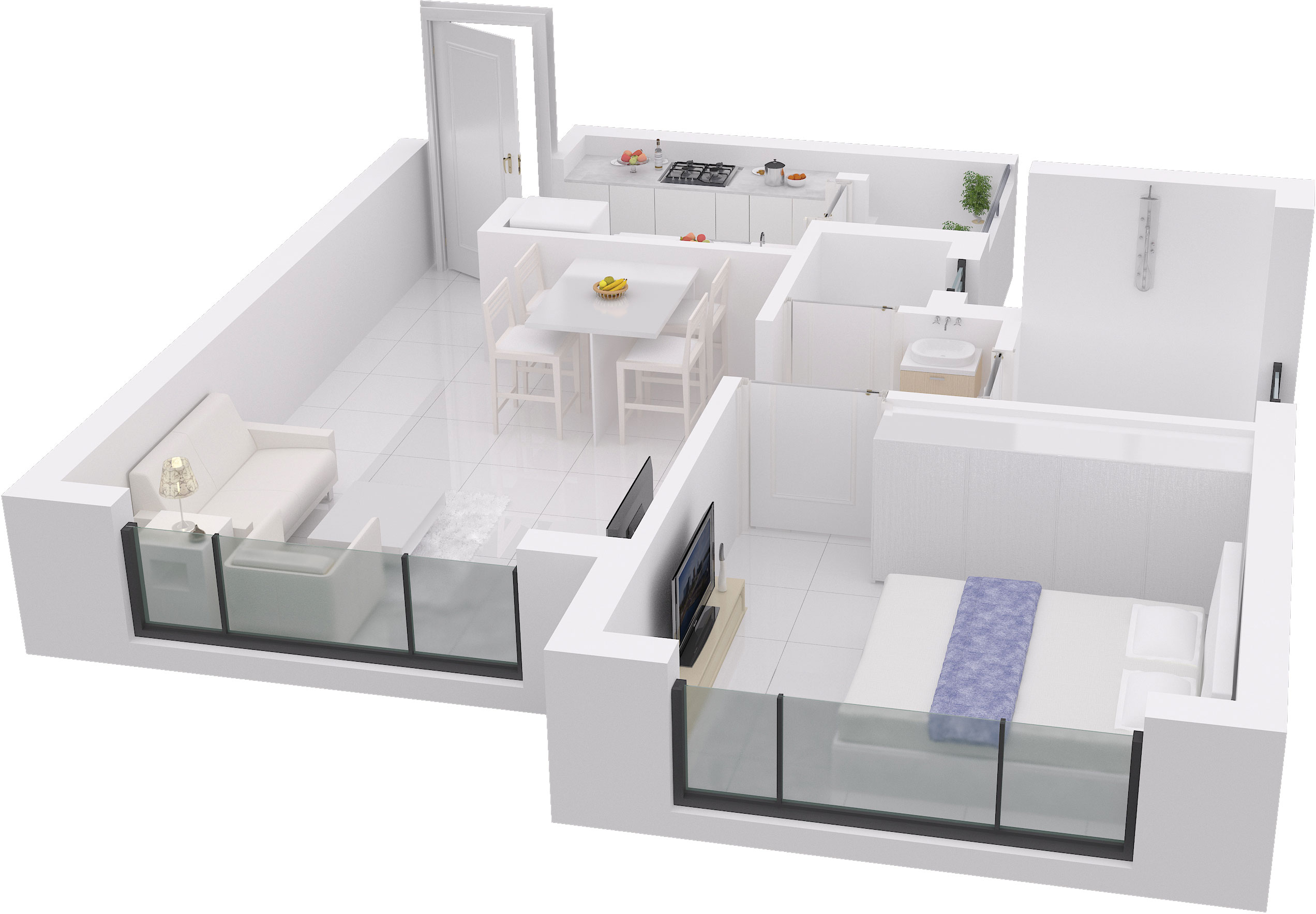 600 sq ft house plan 3d arts