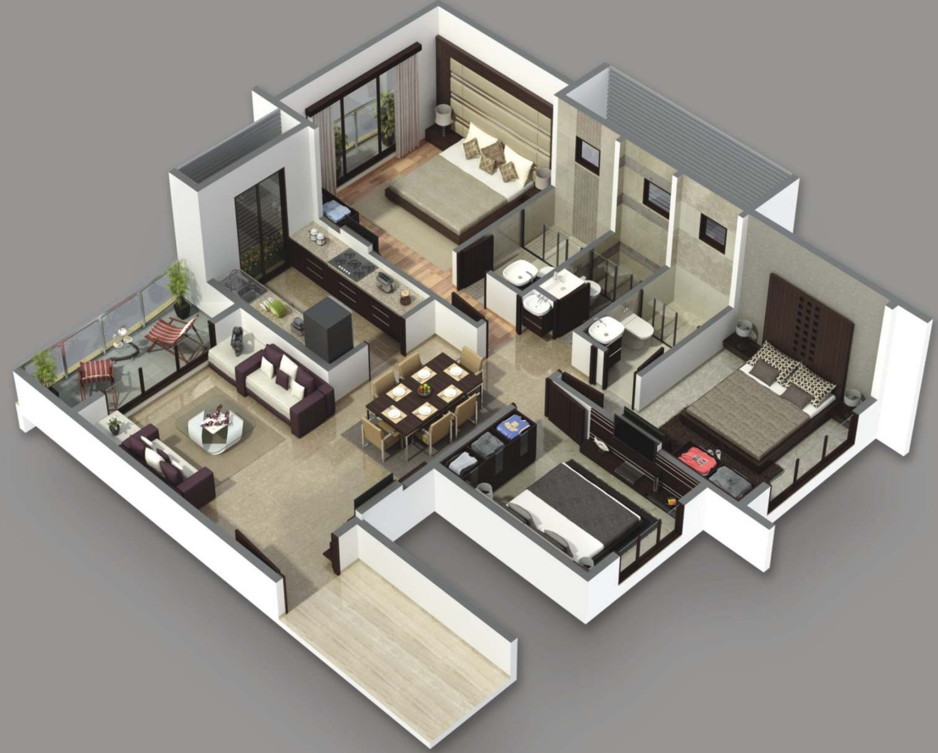 1500 sq ft 3 bhk 3t apartment for sale in b and m buildcon 3d house plans in 1000 sq ft