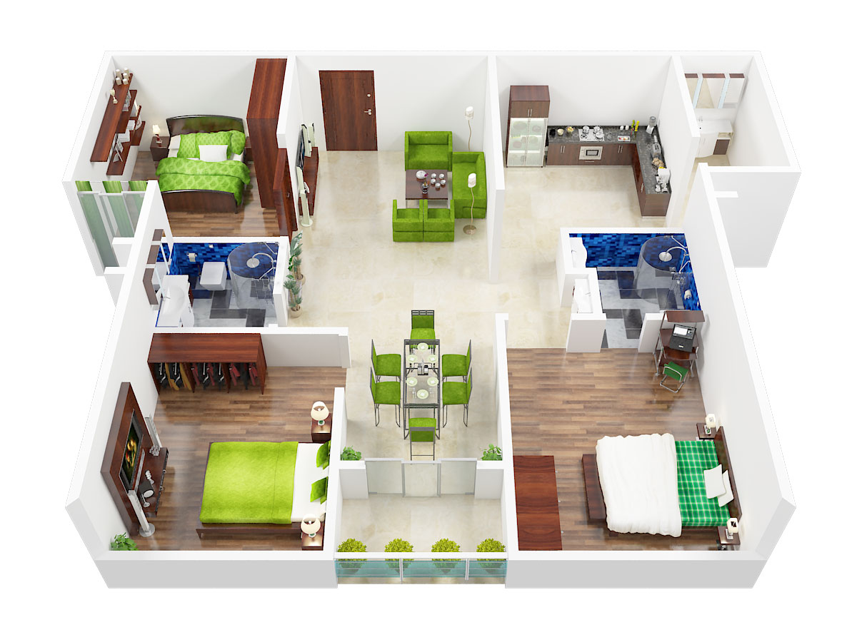 1500 Sq Ft 3 Bhk 2t Apartment For Sale In Gm Infinite E City Town Electronic City Phase 1 Bangalore
