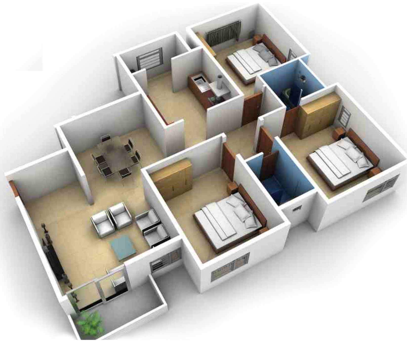 3 Bhk Home Design Layout Part - 27: Bluejay Aston In Rajaji Nagar, Bangalore - Price, Location Map, Floor Plan  U0026 Reviews :PropTiger.com