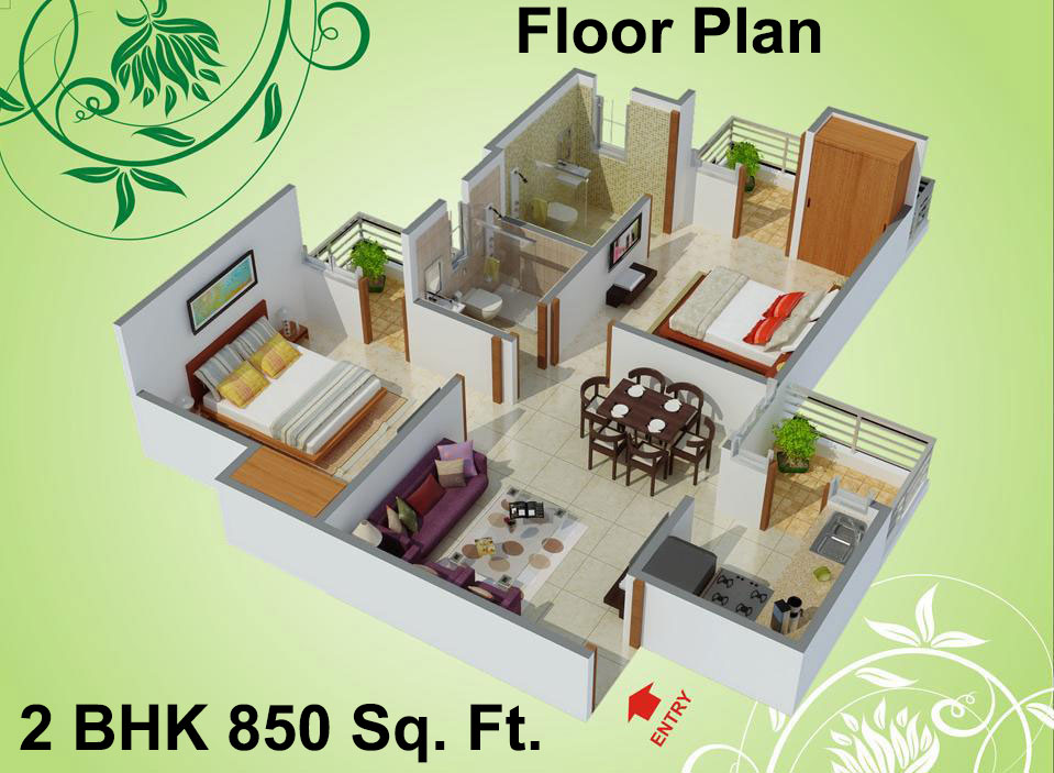 1115 sq ft 2 bhk 2t apartment for sale in charms india for 2 bhk house plans south indian style