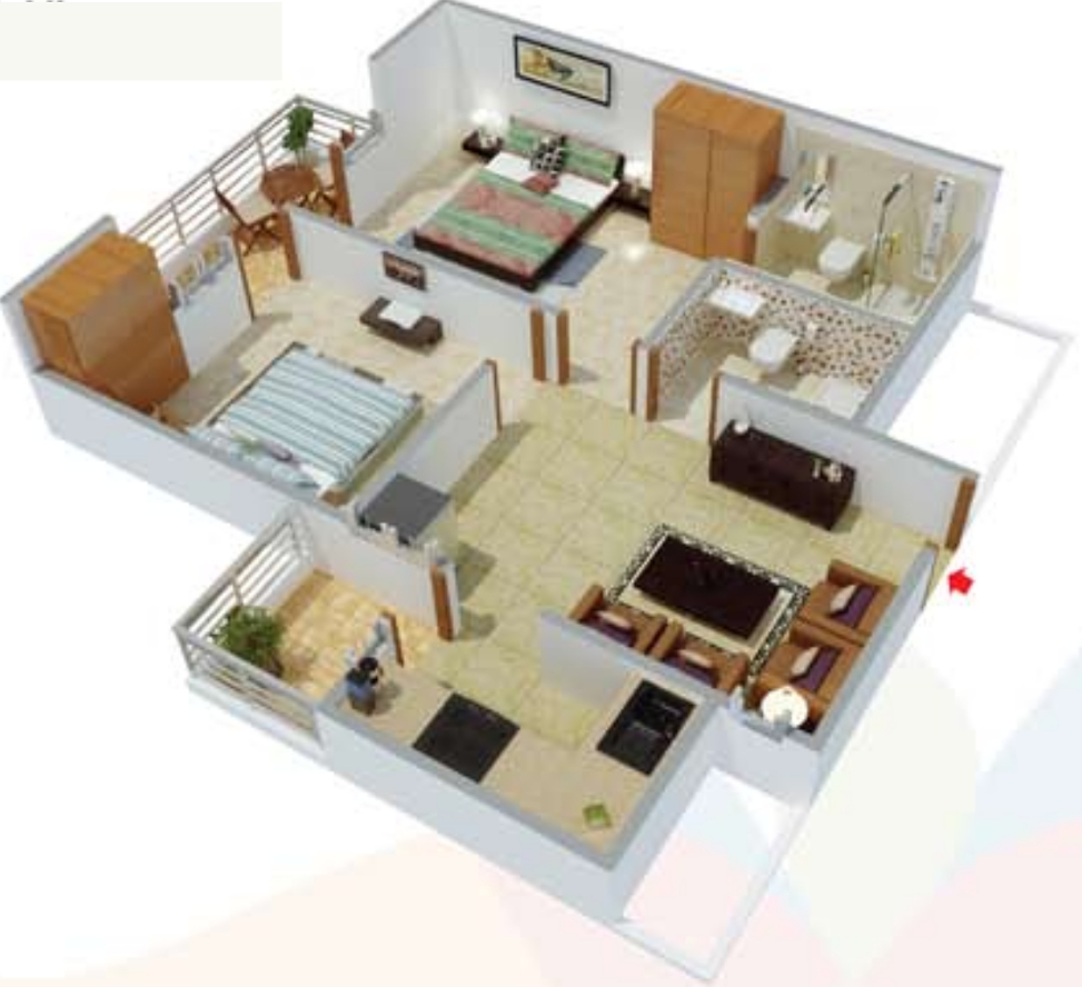 1000 sq ft 2 bhk 2t apartment for sale in raison engineers for 120 square feet room decoration