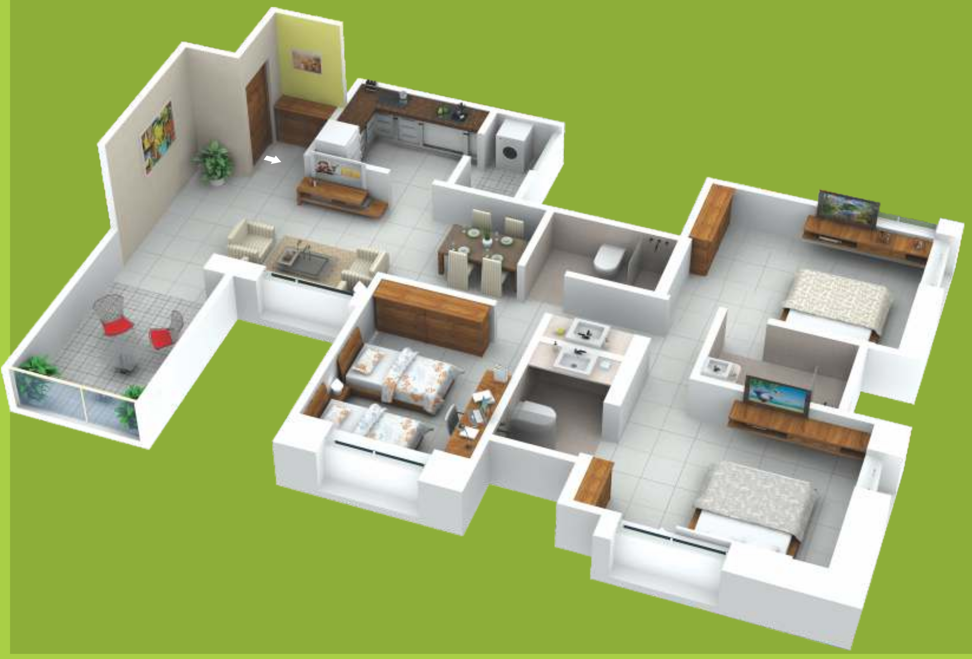 1400 Sq Ft 3 Bhk 3t Apartment For Sale In Mont Vert One