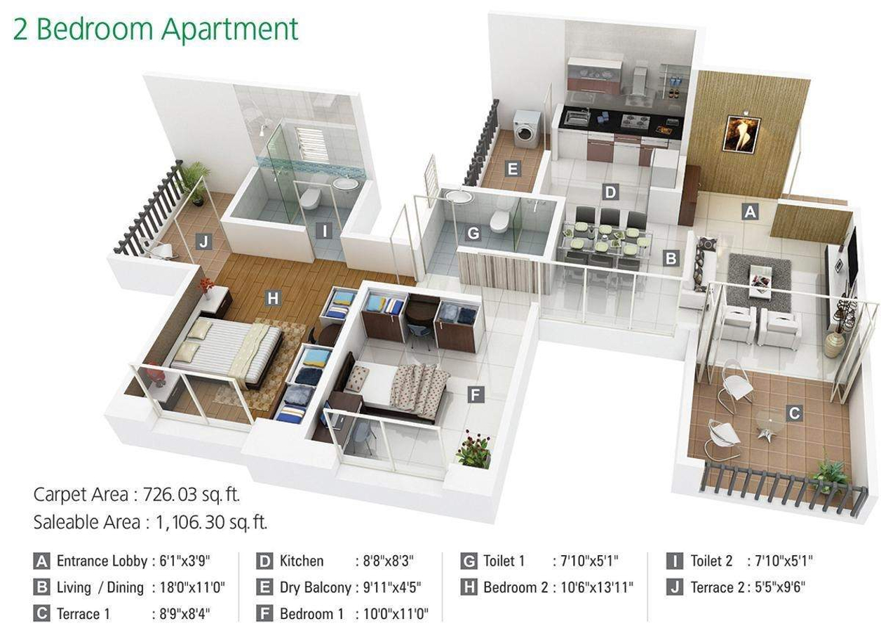 640 Sq Ft 1 Bhk 1t Apartment For Sale In Kumar Properties