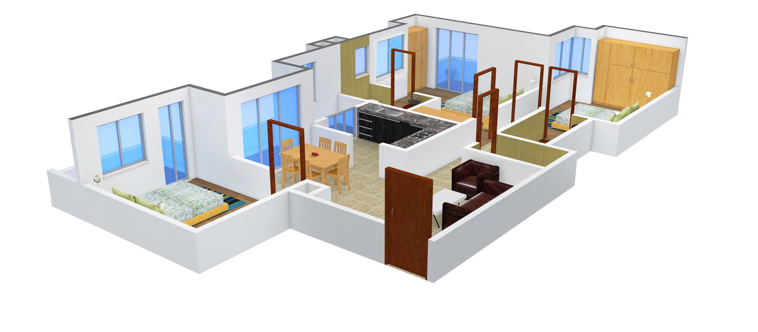 1440 Sq Ft 3 BHK 2T Apartment For Sale In Ruby Builders