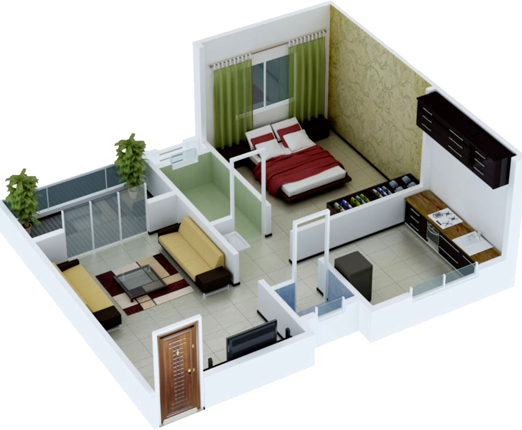 631 Sq Ft 1 Bhk 1t Apartment For Sale In Jay Developers