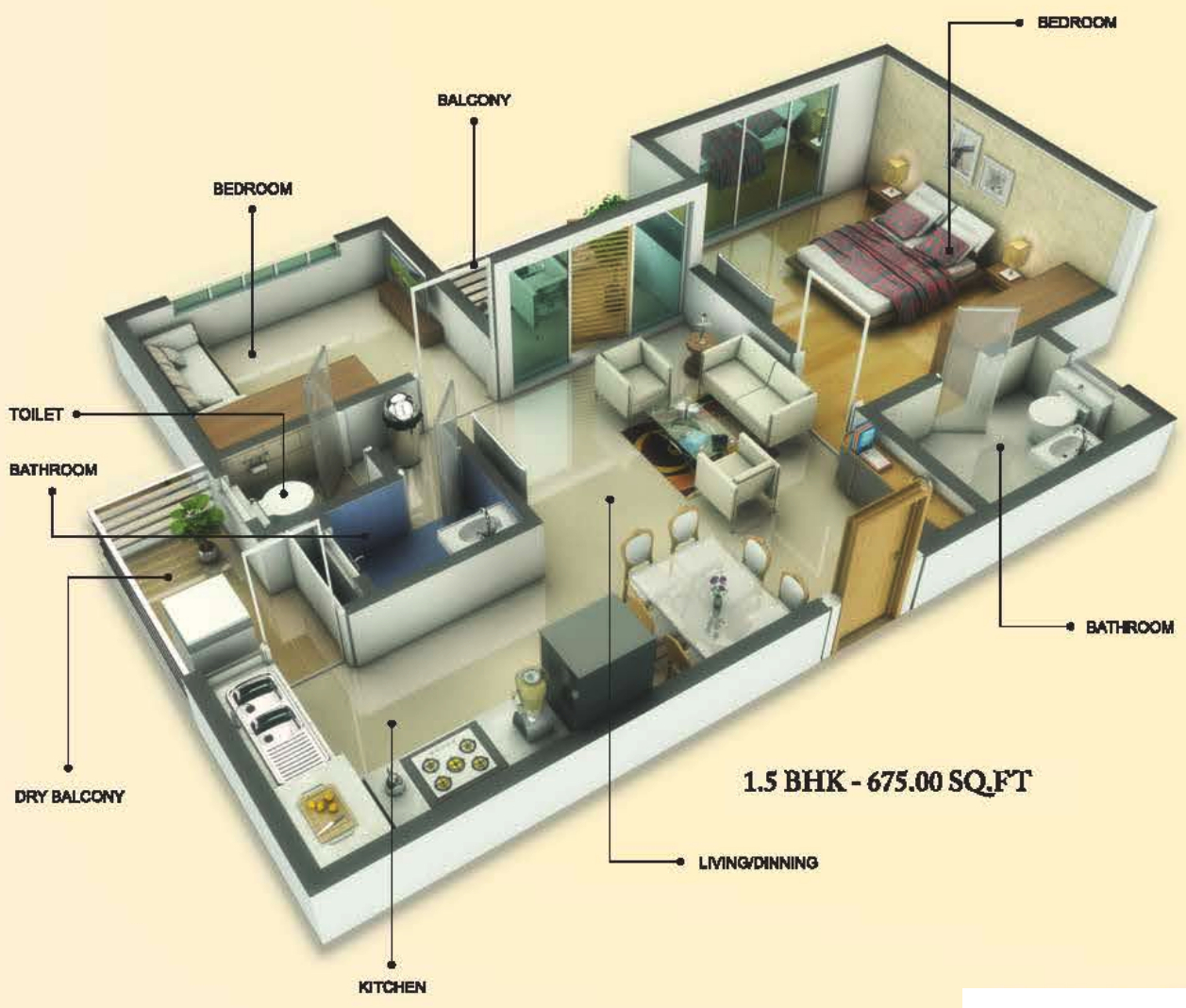 675 sq ft 2 bhk 3t apartment for sale in groupco for 675 sq ft floor plan