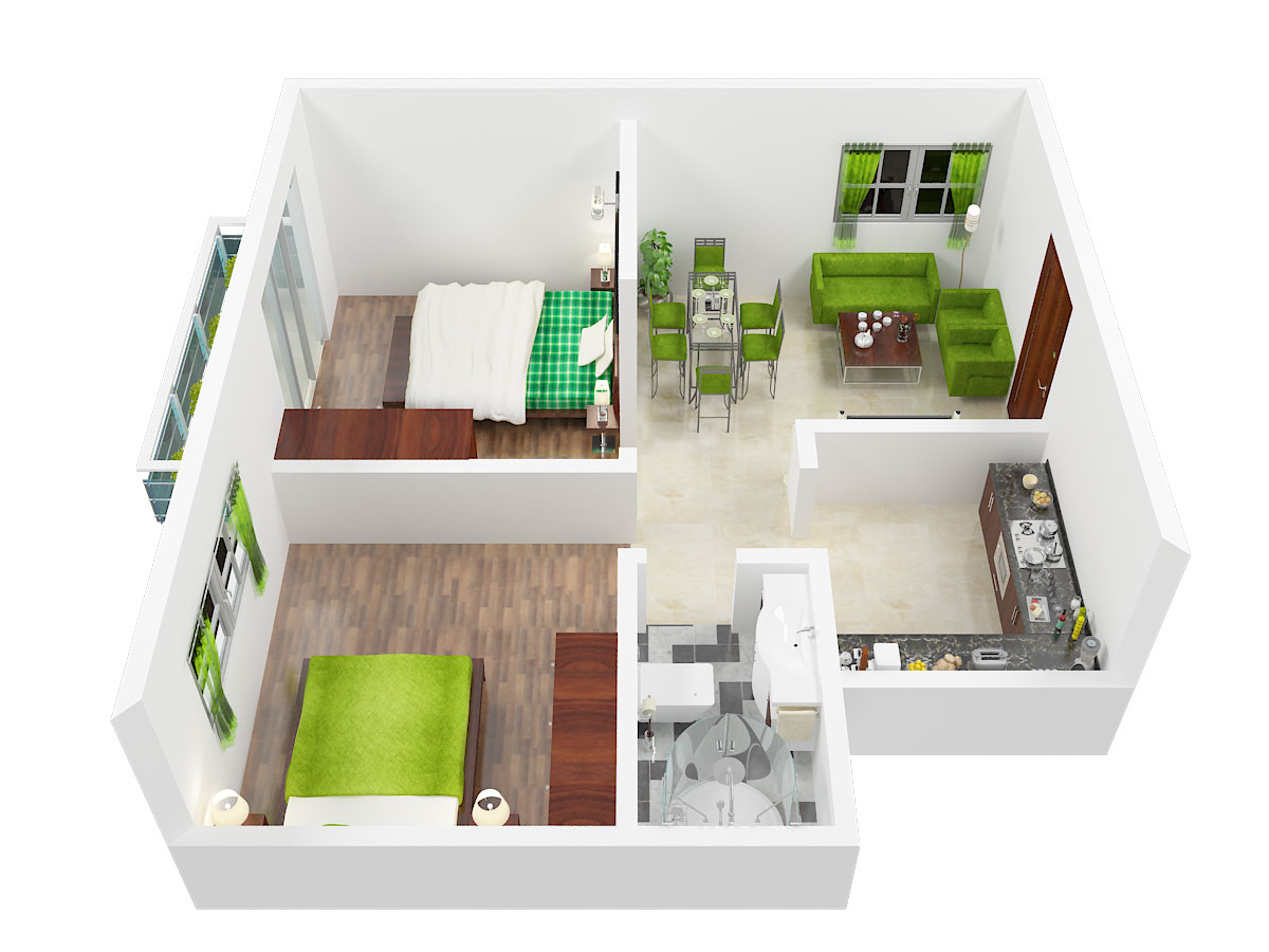 770 Sq Ft 2 Bhk 1t North Facing Resale Apartment On 3rd