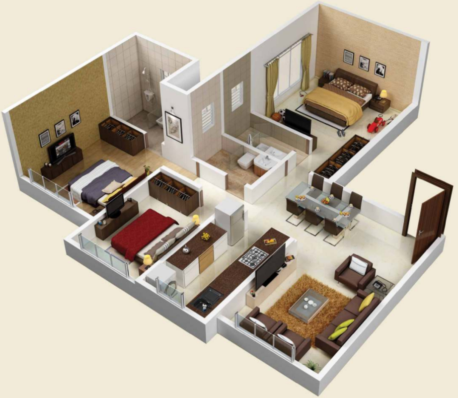 1500 sq ft 3 bhk 3t apartment for sale in kolte patil jay for 1500 sq ft