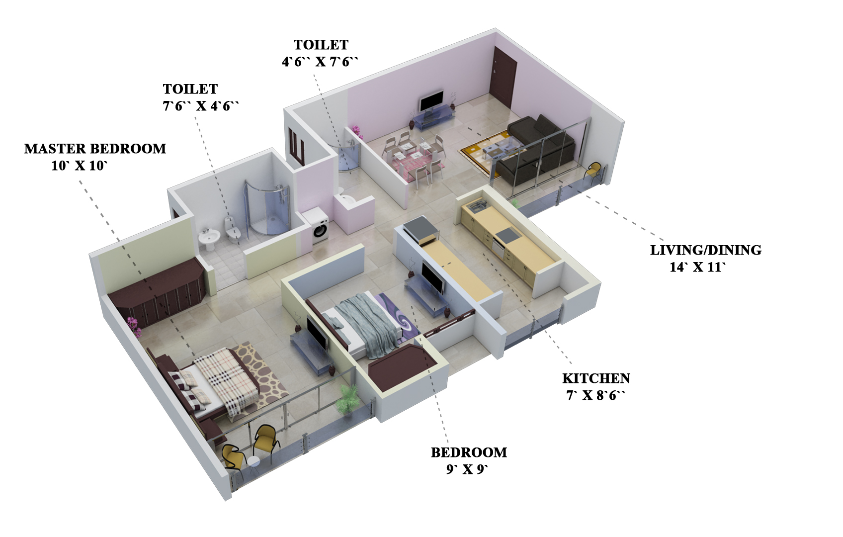 2bhk 2t 860 Sqft Apartment on 900 Square Foot House Plans