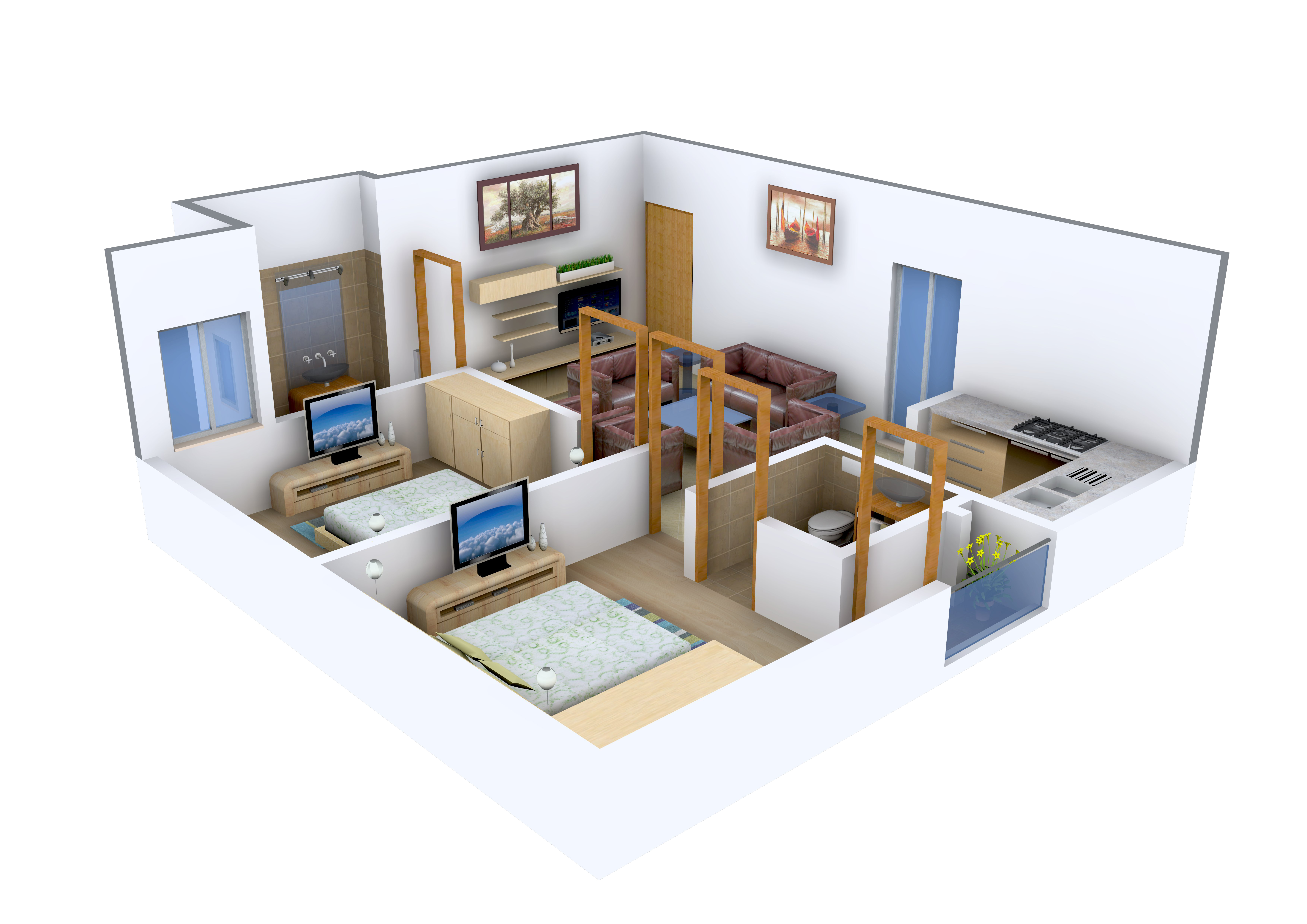 550 sq ft 1 bhk 1t apartment for sale in investors inn aashiyana mansion shahberi greater noida. Black Bedroom Furniture Sets. Home Design Ideas