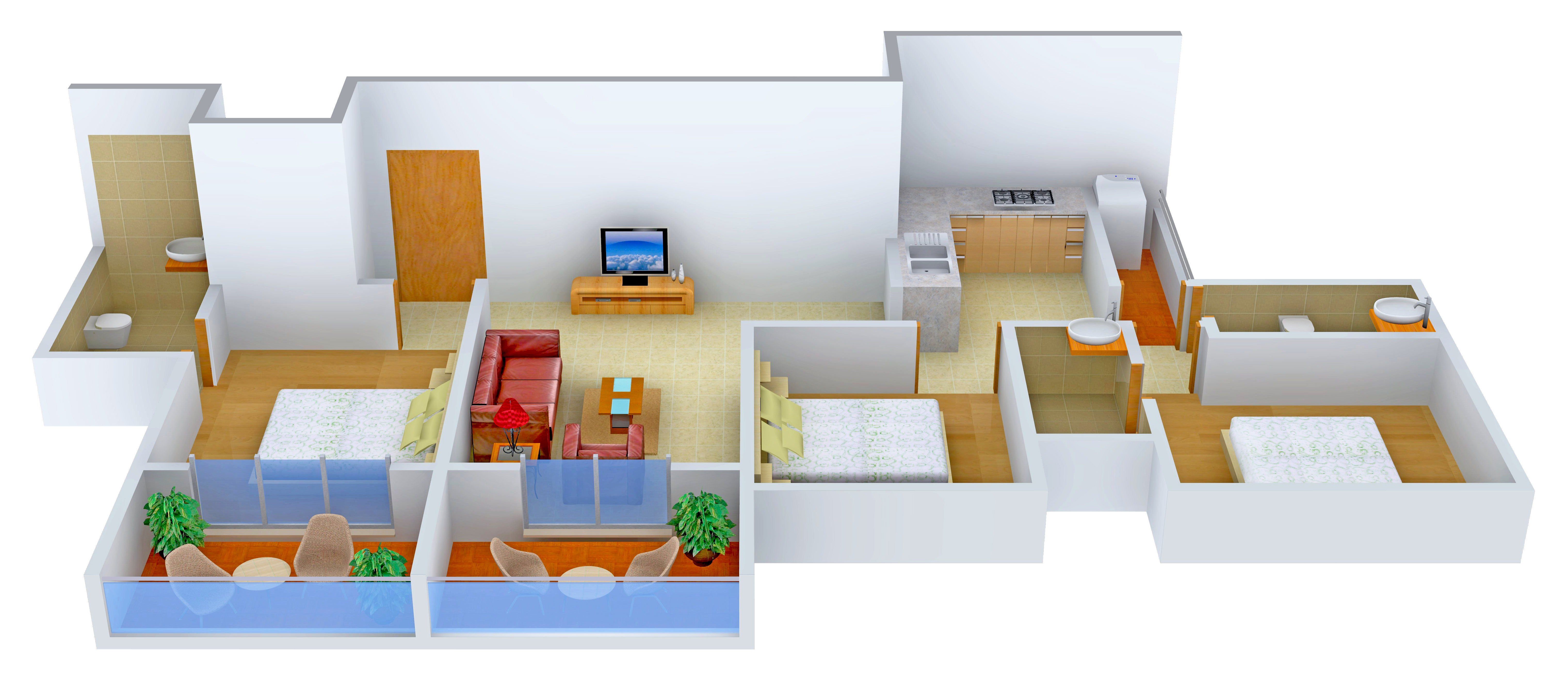 1360 sq ft 3 bhk 3t apartment for sale in rohan for The villages gardenia floor plan