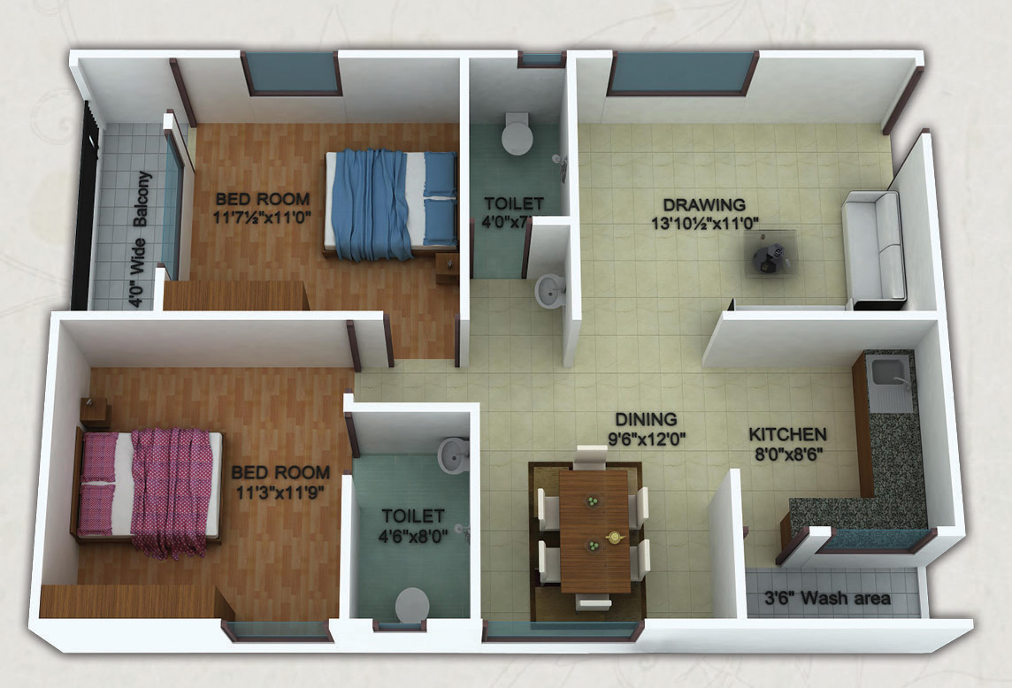 Sq Ft Bhk Apartment For Sale In Shreya Homes Elegance