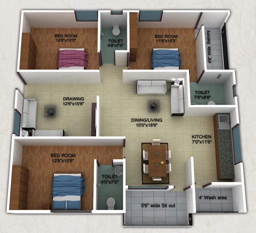 House Plans 1300 Square Feet In India