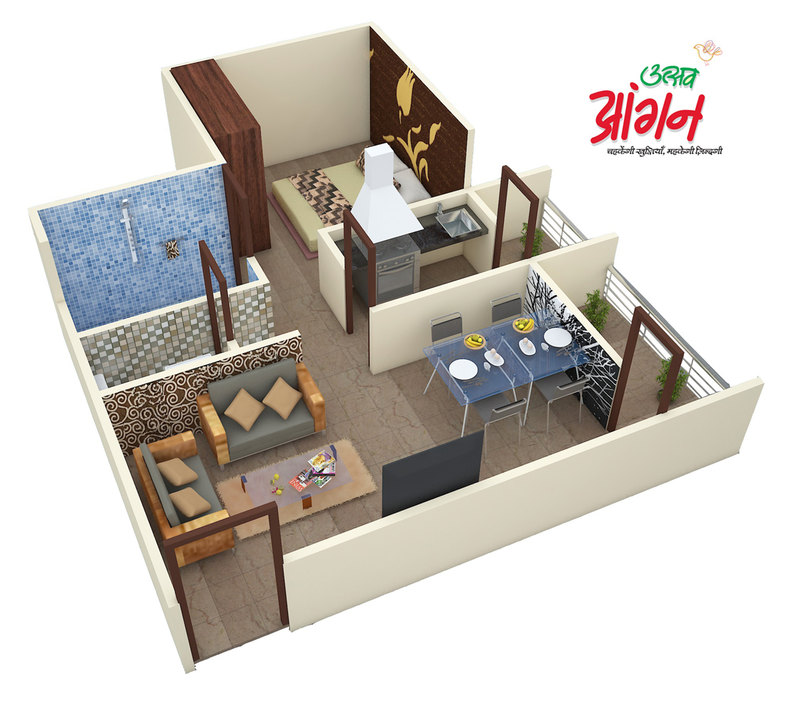 680 sq ft 1 bhk 2t apartment for sale in suyash for 680 square feet house plan