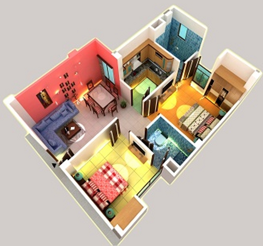 800 Sq Ft 2 Bhk 2t Apartment For Sale In Viraj Corporate