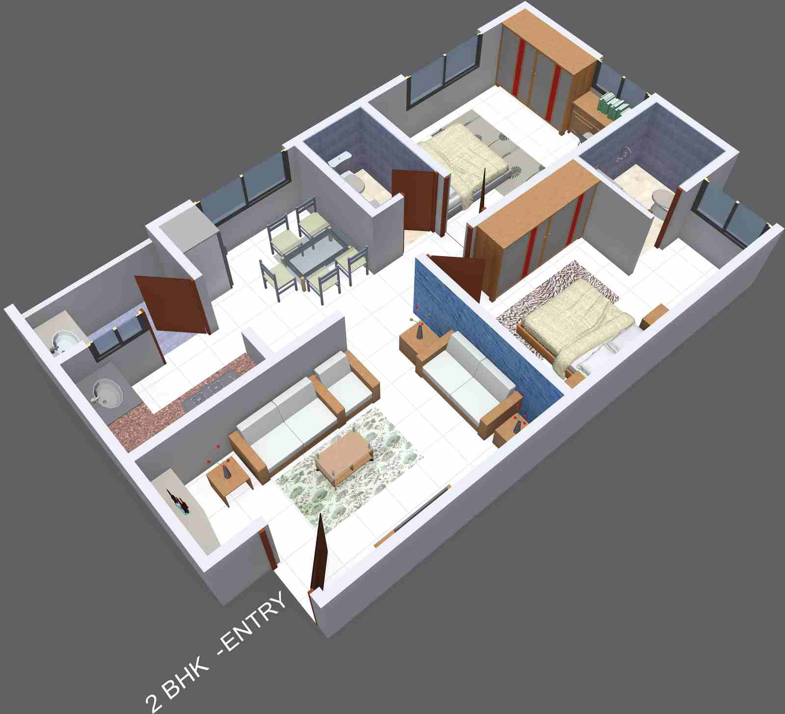 850 sq ft 2 bhk 2t apartment for sale in gajanana sumuk for Sq 850