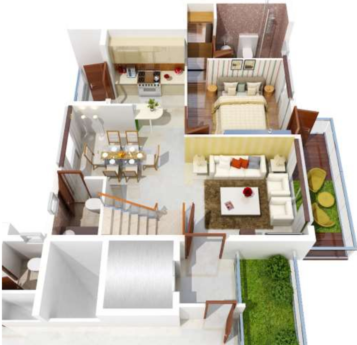 Open Kitchen Noida: Golf Villas In PI, Greater Noida
