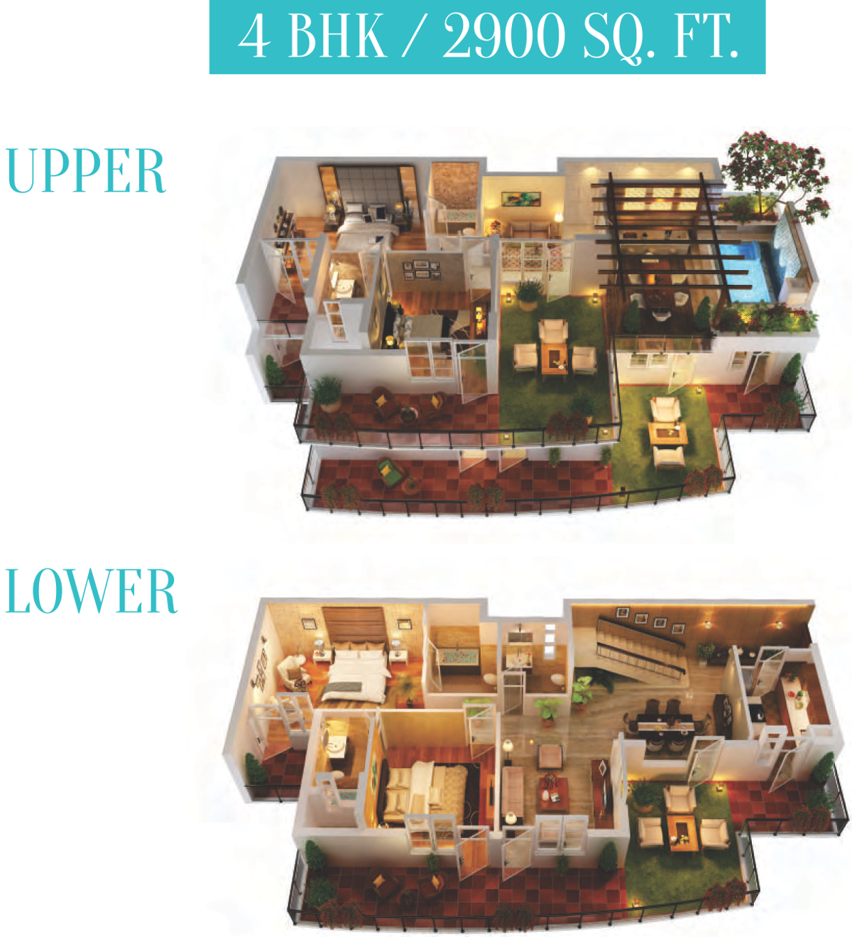 2900 sq ft 4 BHK 5T Apartment for Sale in Cosmos Infra Engineering Cascade Gardens Sector 99 Gurgaon