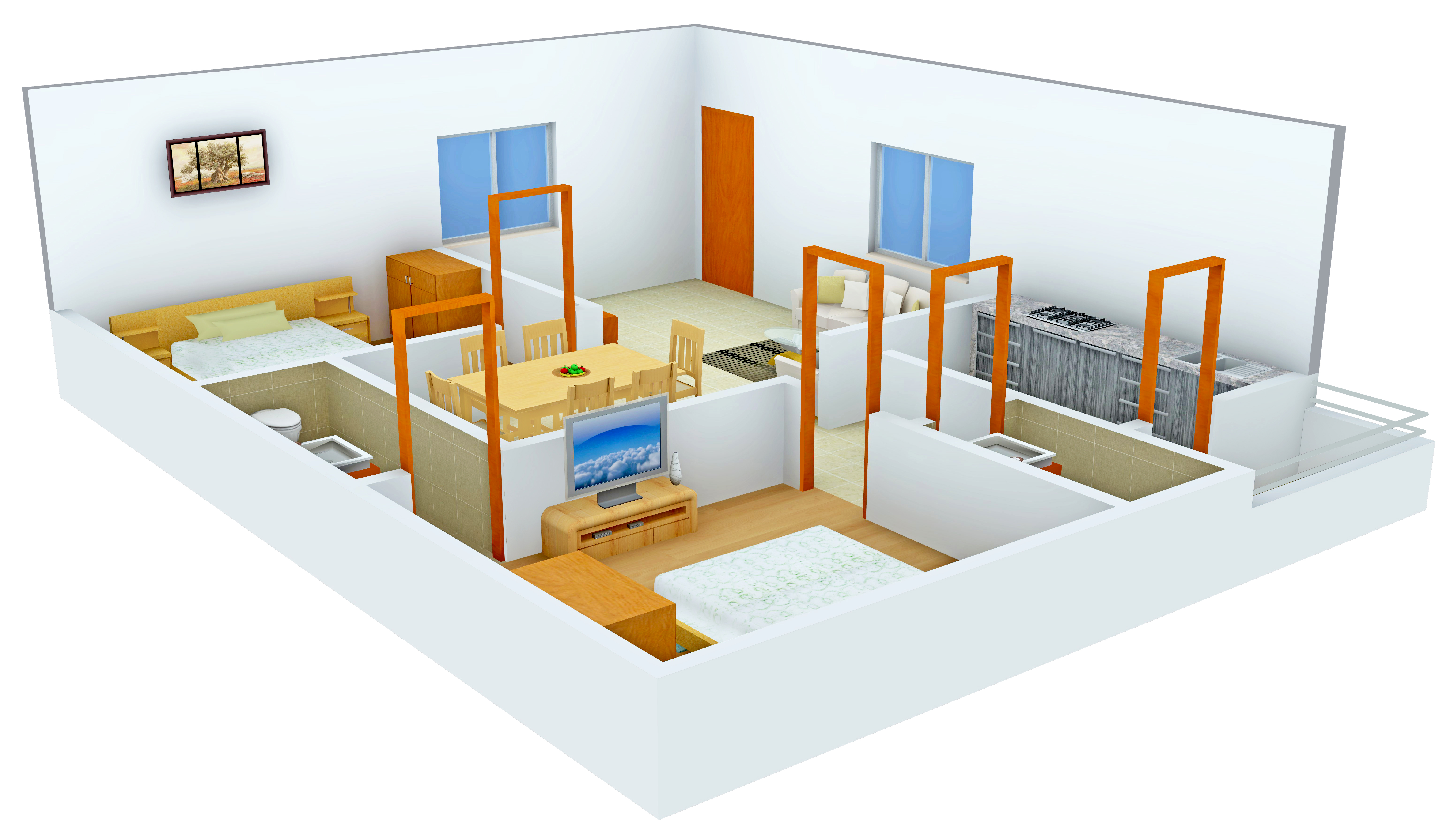 1220 Sq Ft 2 Bhk 2t Apartment For Sale In Sudhakar