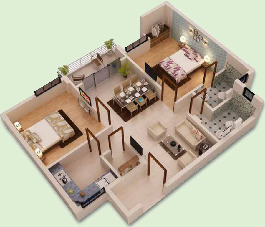 1200 sq ft 2 bhk 2t apartment for sale in kalvik builders