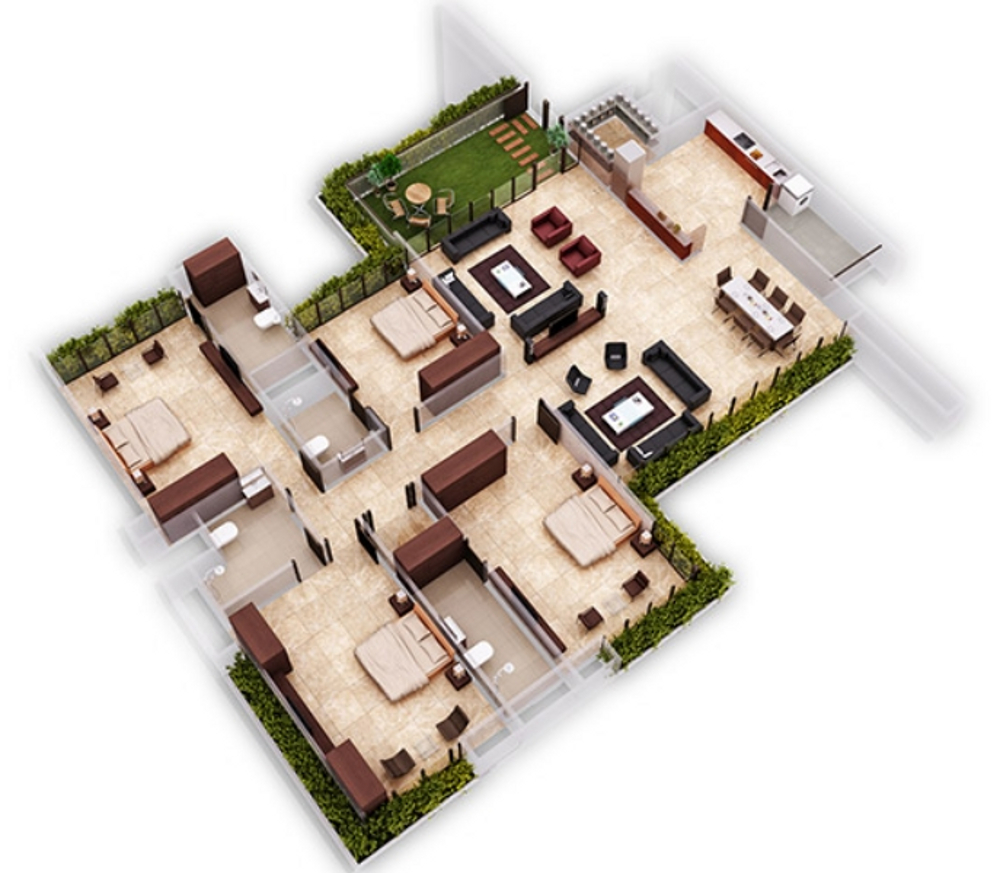 3618 sq ft 4 BHK 4T Apartment for Sale in Ganesh Housing Maple ...
