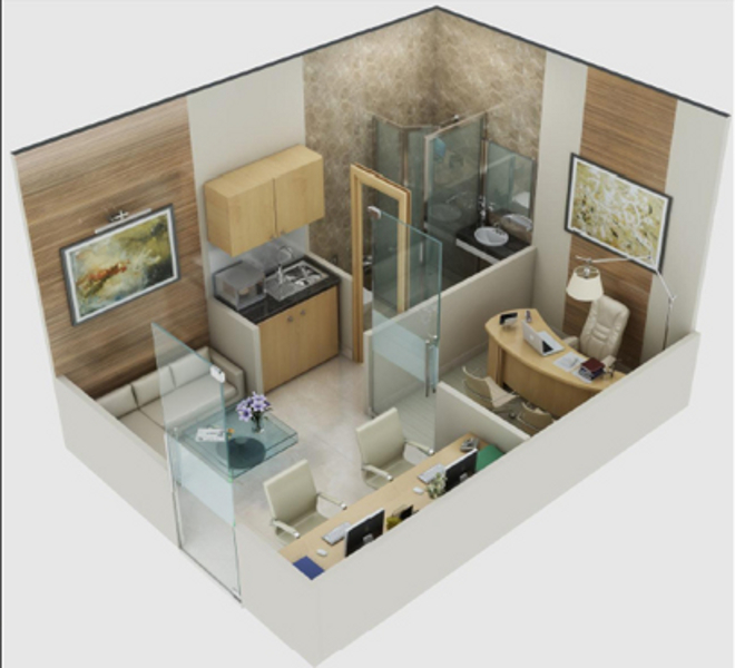 750 Sq Ft Apartment: 300 Sq Ft 1 BHK 1T Apartment For Sale In Cosmic Structures