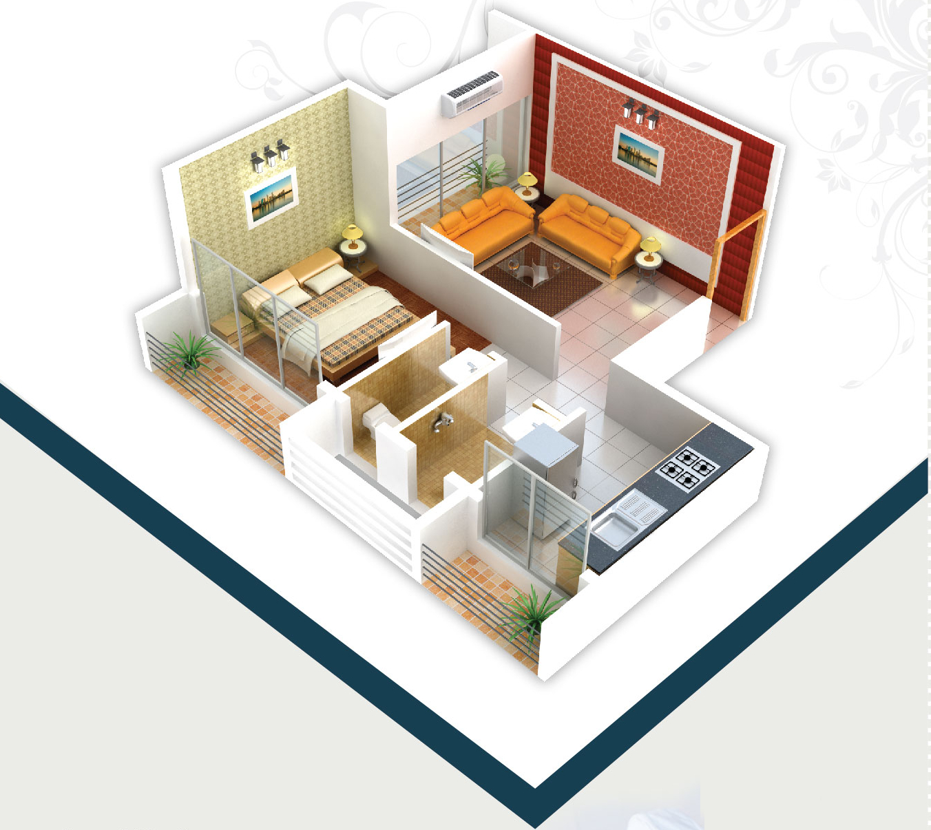 640 Sq Ft 1 Bhk 1t Apartment For Sale In Innovative Group